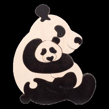 Zvieracia rodinka - Panda - zvieratká z dreva