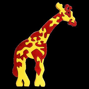 Veľké zvieratko - Žirafa - drevené zviera na skladanie