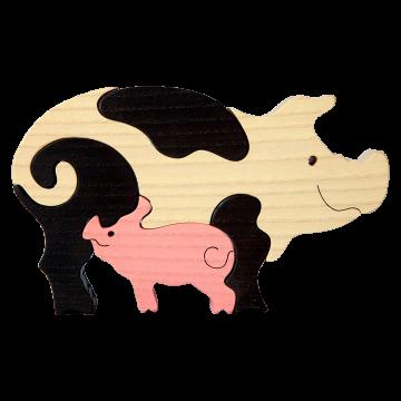 Zvieracia rodinka - Prasiatko - ekologické kvalitné hračky