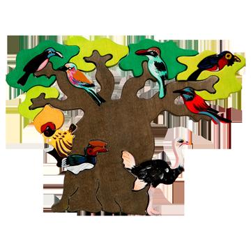 3D puzzle z dreva - Strom vtáctva - Afrika