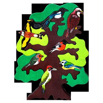 Strom vtáctva - Európa - 3D puzzle z dreva
