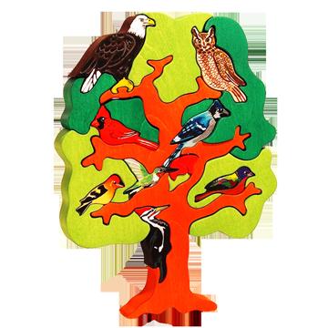 Strom vtáctva - Severná Amerika - 3D puzzle