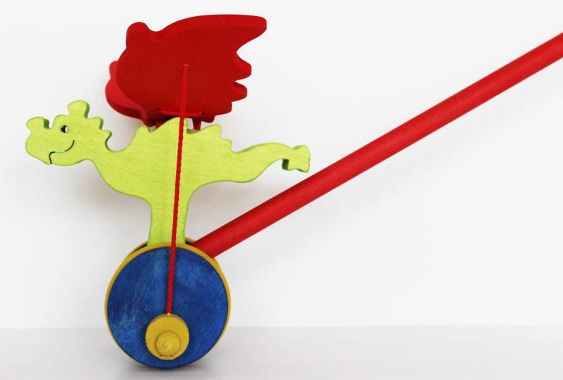 Dráčik - hračka na tlačenie