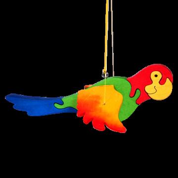Lietajúca hračka na pružine Papagáj