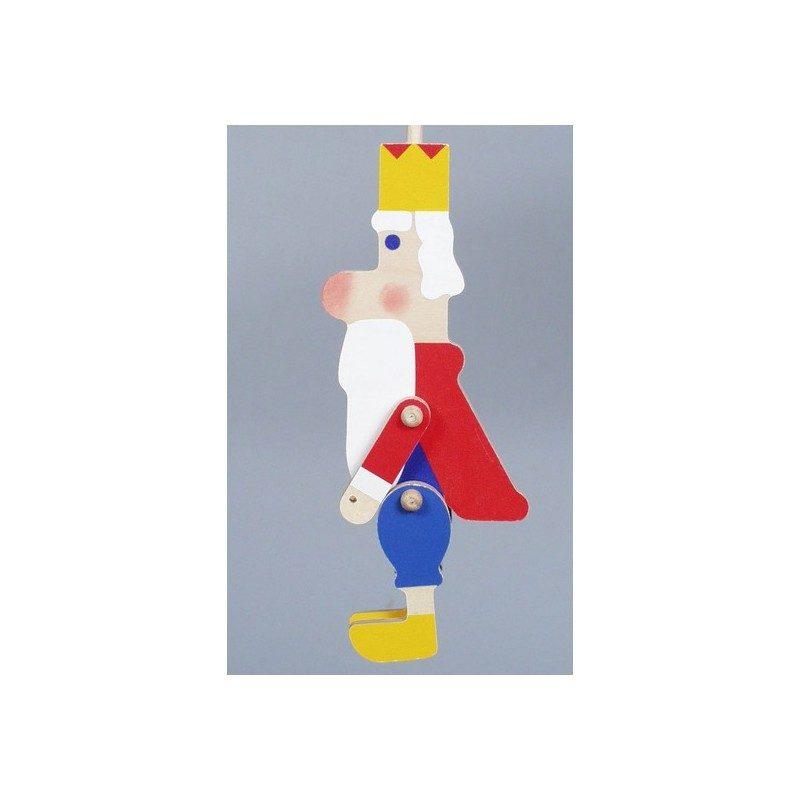 Kráľ -Plošná drevená bábka