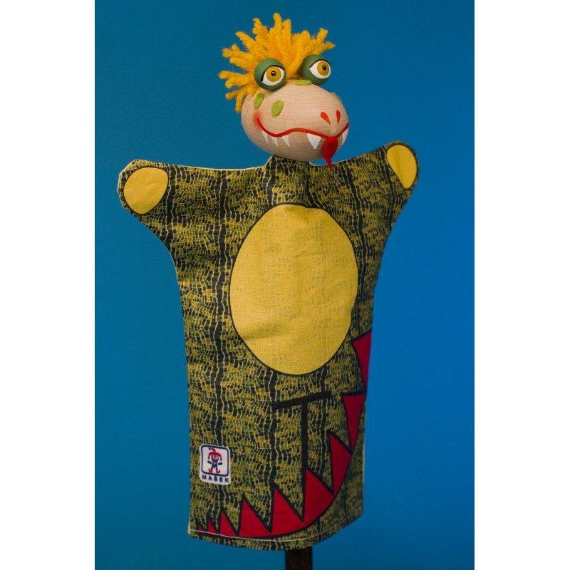Drak - bábka z textilu