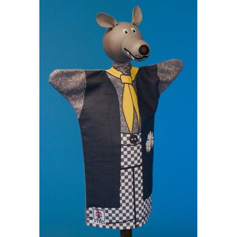 Vlk - rozprávková maňuška z textilu