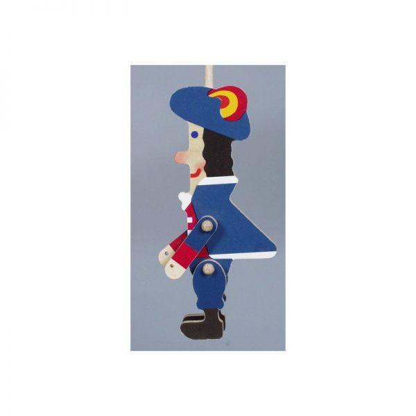 Drevená plošná bábka - Princ