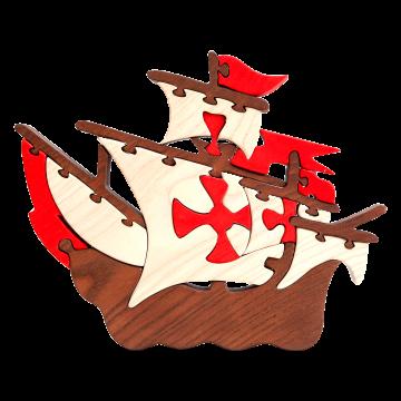 Doprava - Santa Maria - drevená skladacia loď