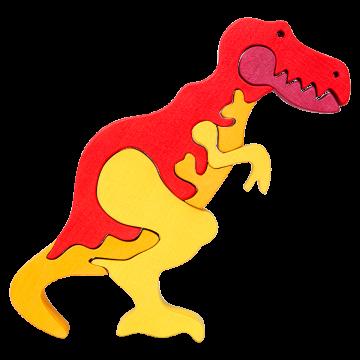 Veľké Zvieratko - T- Rex - drevená skladačka zviera