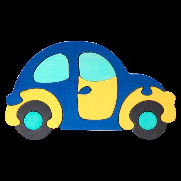 """Doprava - """"Beetle"""" - modrá - skladacie drevené auto"""