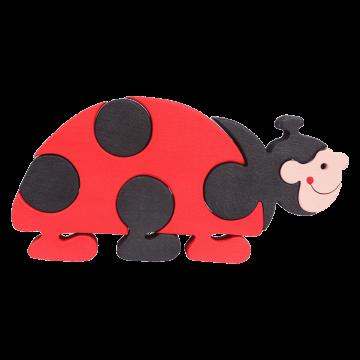 Veľké Zvieratko - Lienka - ekologická skladacia drevená hračka