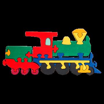 Doprava - Lokomotíva - drevený skladací vlak