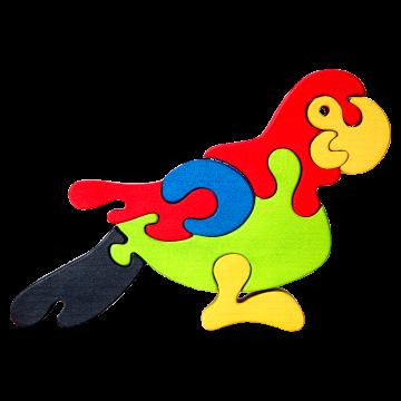 Veľké zvieratko - Papagáj - edukačná skladačka zvieratko